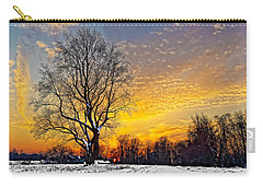 Magical Winter Sunset Carry-all Pouch