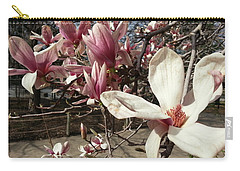 Carry-all Pouch featuring the photograph Magnolia Branches by Caryl J Bohn
