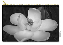 Magnolia Grandiflora Blossom - Simply Beautiful Greyscale Carry-all Pouch