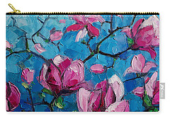 Magnolias For Ever Carry-all Pouch by Mona Edulesco