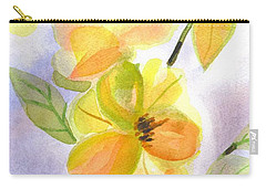 Carry-all Pouch featuring the painting Magnolias Gentle by Kip DeVore