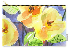 Carry-all Pouch featuring the painting Magnolias by Kip DeVore