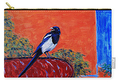 Magpie Singing At The Bath Carry-all Pouch by Xueling Zou