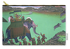 Maharana Sarup Singh Of Udaipur Shooting Boar From Elephant-back, Rajasthan, 1855  Carry-all Pouch