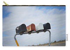 Carry-all Pouch featuring the photograph Mailboxes by Erika Weber