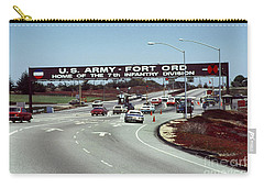 Main Gate 7th Inf. Div Fort Ord Army Base Monterey Calif. 1984 Pat Hathaway Photo Carry-all Pouch