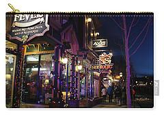 Main Street Breckenridge Colorado Carry-all Pouch by Fiona Kennard