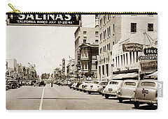 Main Street Salinas California 1941 Carry-all Pouch by California Views Mr Pat Hathaway Archives
