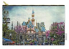 Main Street Sleeping Beauty Castle Disneyland Textured Sky Carry-all Pouch