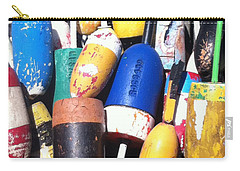 Carry-all Pouch featuring the photograph Maine Lobster Buoys by Denyse Duhaime