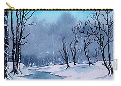 Maine Snowy Woods Carry-all Pouch