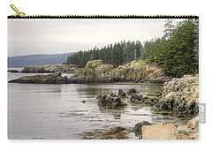 Maine's Beautiful Rocky Shore Carry-all Pouch by Denyse Duhaime