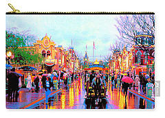 Carry-all Pouch featuring the photograph Mainstreet Disneyland by David Lawson