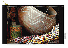 Pottery And Maize Indian Corn Still Life In New Orleans Louisiana Carry-all Pouch by Michael Hoard