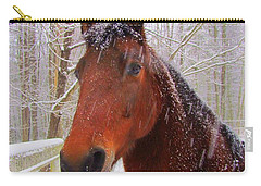 Majestic Morgan Horse Carry-all Pouch by Elizabeth Dow