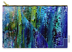 Carry-all Pouch featuring the painting Make A Splash With Abstract  by Kimberlee Baxter