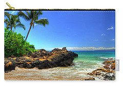Makena Secret Cove Paako Beach Carry-all Pouch by Kelly Wade