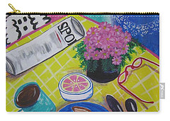 Carry-all Pouch featuring the painting Makin' His Move by Diane Pape