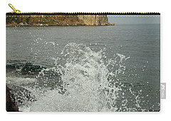 Carry-all Pouch featuring the photograph Making A Splash At Split Rock Lighthouse  by James Peterson