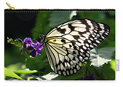 Carry-all Pouch featuring the photograph Malabar Tree Nymph  by Suzanne Stout