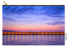 Carry-all Pouch featuring the photograph Malaga Pink And Blue Sunrise  by Debra Martz