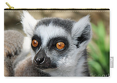 Carry-all Pouch featuring the photograph Malagasy Lemur by Sergey Lukashin