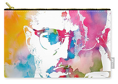 Malcolm X Watercolor Carry-all Pouch by Dan Sproul