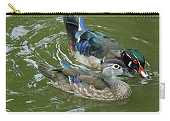 Male And Female Wood Ducks Carry-all Pouch