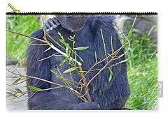 Carry-all Pouch featuring the photograph Male Ape by Jim Fitzpatrick