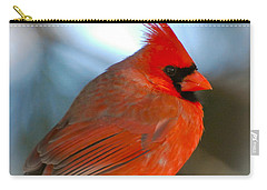 Carry-all Pouch featuring the photograph Male Cardinal  by Kerri Farley