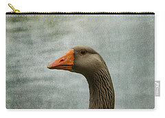 Male Graylag Goose Profile Carry-all Pouch by Denyse Duhaime