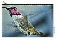 Carry-all Pouch featuring the photograph Male Hummingbird Free As A Bird by Jay Milo