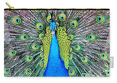 Male Peacock Carry-all Pouch by Cynthia Guinn