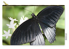 Male Scarlet Swallowtail Carry-all Pouch by Denyse Duhaime