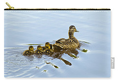 Mallard And Chicks  Carry-all Pouch by Chris Flees