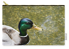 Carry-all Pouch featuring the photograph Mallard Duck Closeup by David Millenheft