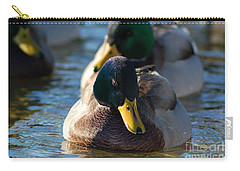 Mallard In The Morning Sun Carry-all Pouch
