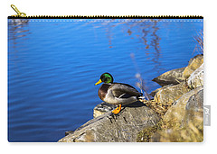 Mallard Looking Over His Domain Carry-all Pouch