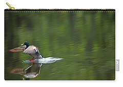 Mallard Splash Down Carry-all Pouch by Karol Livote
