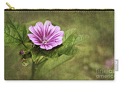 Mallow Hollyhock Carry-all Pouch by Lena Auxier