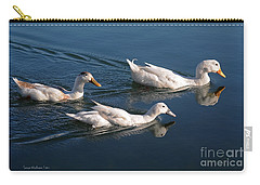 Carry-all Pouch featuring the photograph Mama Duck Leads The Way by Susan Wiedmann