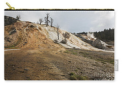 Carry-all Pouch featuring the photograph Mammoth Hot Springs by Belinda Greb