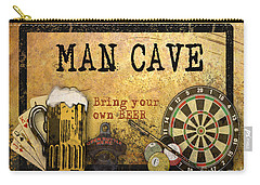 Man Cave-bring Your Own Beer Carry-all Pouch by Jean Plout