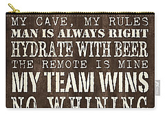Man Cave Rules 1 Carry-all Pouch
