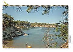 Man Going Kayaking Carry-all Pouch by Charles Beeler
