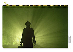 Carry-all Pouch featuring the photograph Man In Light Beams by Lee Avison