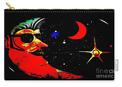 Carry-all Pouch featuring the photograph Man In The Moon Edited by Kelly Awad