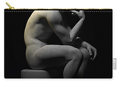 Carry-all Pouch featuring the digital art Man Thinking... by Tim Fillingim