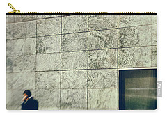Carry-all Pouch featuring the photograph Man With Cell Phone by Silvia Ganora