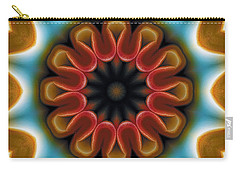 Carry-all Pouch featuring the digital art Mandala 100 by Terry Reynoldson